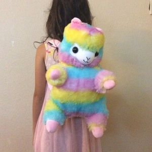 Other - JUST IN new UNICORN LAMA RAINBOW SOFT BACKPACK